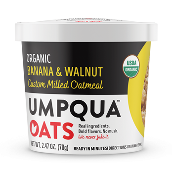 Umpqua Oats Organic Banana Walnut 8 Ct Case