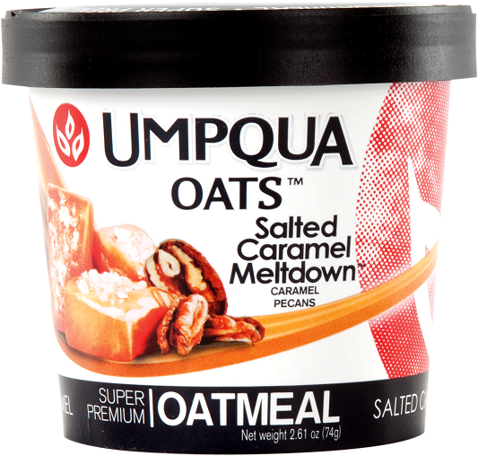 Umpqua Oats Salted Caramel Meltdown Oatmeal 12 Pack Case