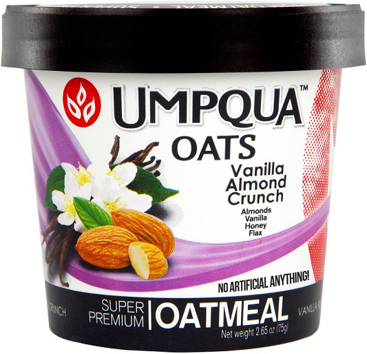 Umpqua Oats Vanilla Almond Crunch All Natural Oatmeal 12 Pack