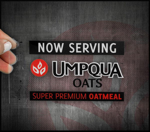 Umpqua Oats Window Cling