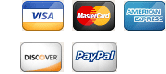 We accept Visa, Mastercard, Amex, Discover, and Paypal